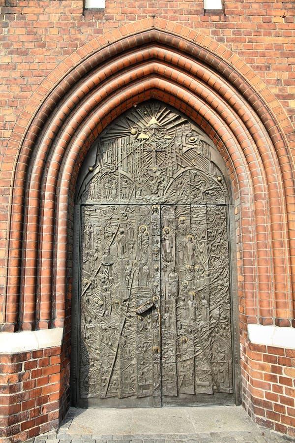 Opole Kathedraletür stockfoto