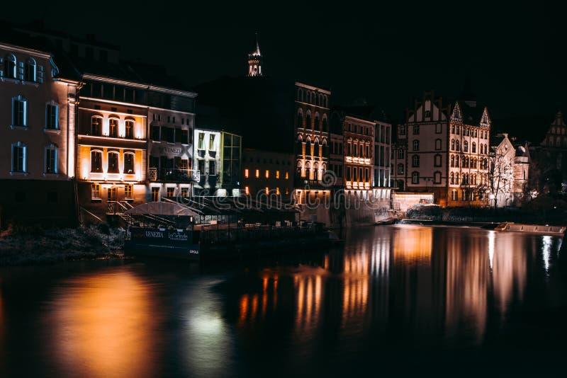 Opole na noite fotos de stock royalty free