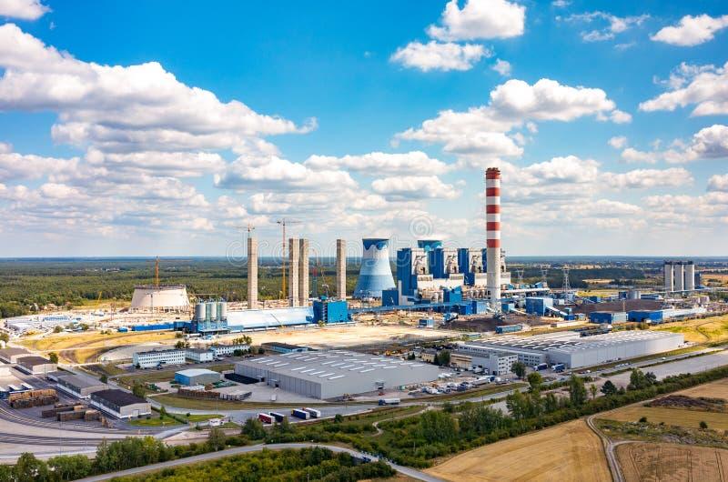 Opolekrachtcentrale stock foto