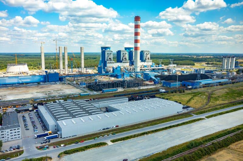 Opolekrachtcentrale stock foto's
