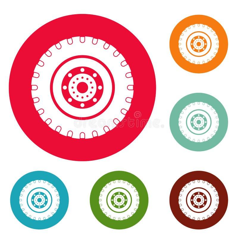 Opon ikon okręgu set ilustracja wektor