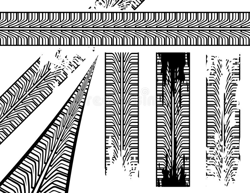 opona ślad ilustracja wektor