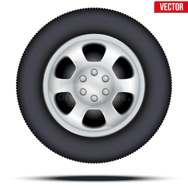 Opona i koło samochód również zwrócić corel ilustracji wektora ilustracja wektor