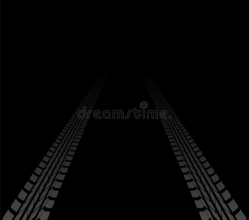 Download Opona ślada ilustracja wektor. Obraz złożonej z zmotoryzowany - 27034796