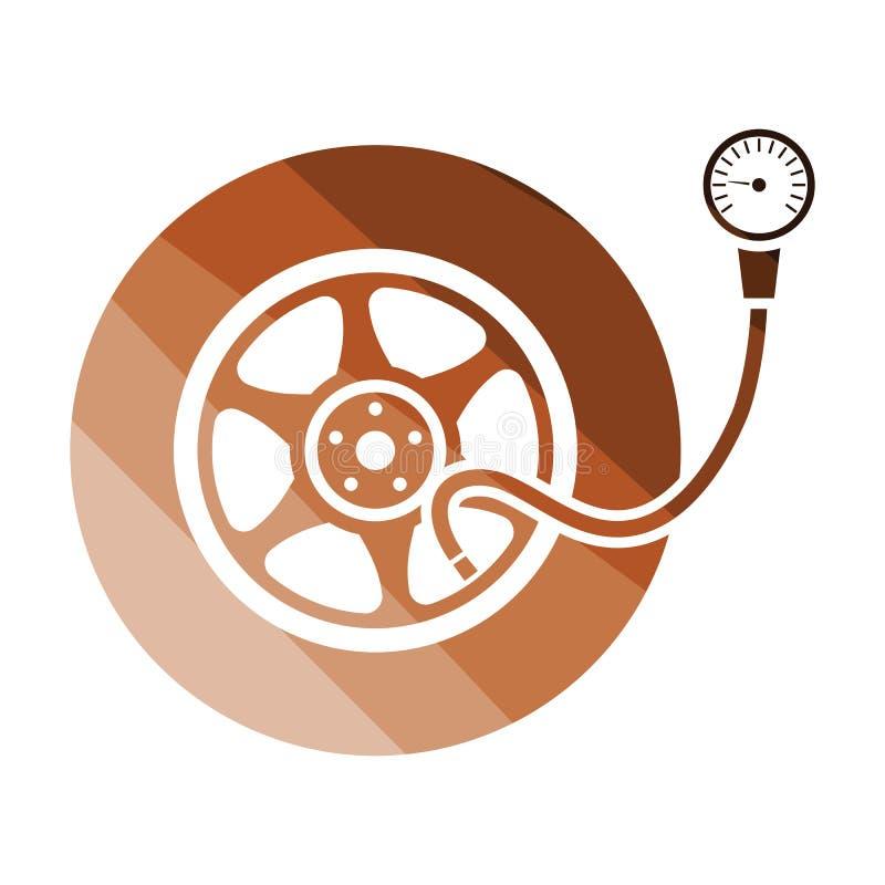 Opony ciśnieniowego gage ikona ilustracji