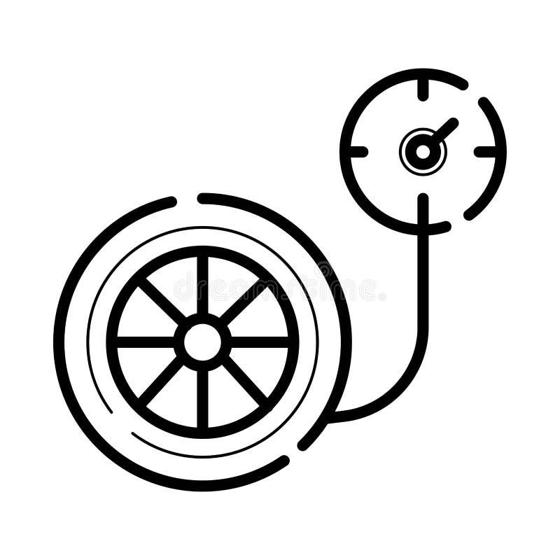 Opony ciśnieniowego gage ikona royalty ilustracja