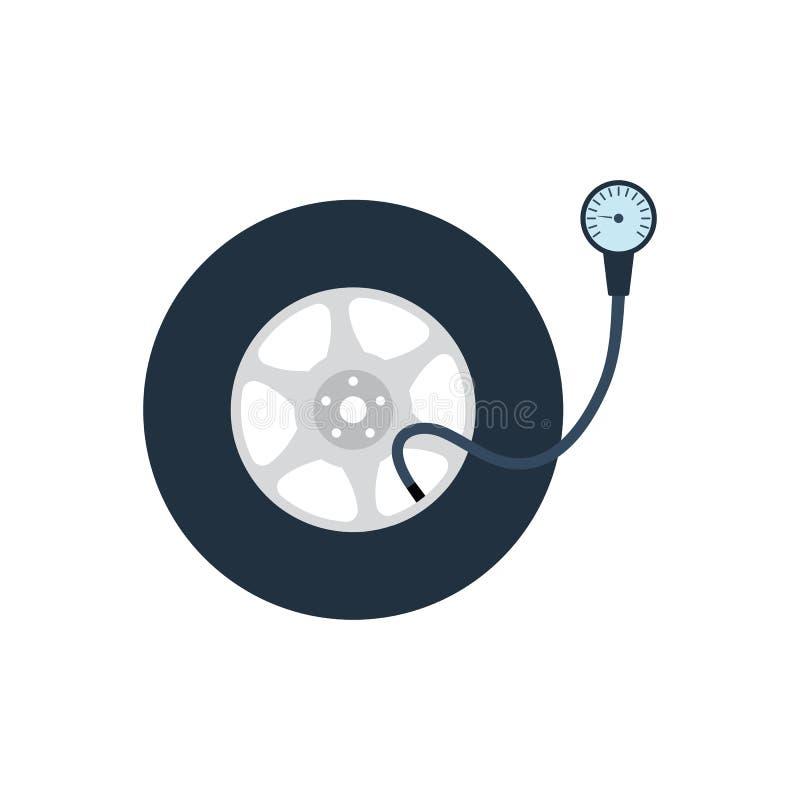 Opony ciśnieniowego gage ikona ilustracja wektor
