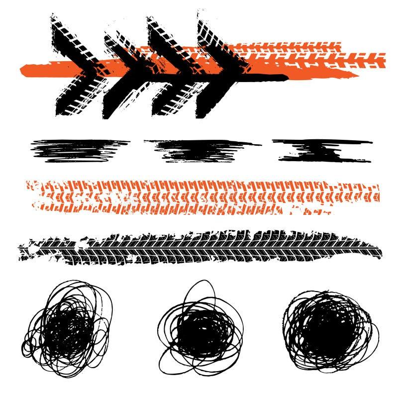 Opony stąpania oceny royalty ilustracja