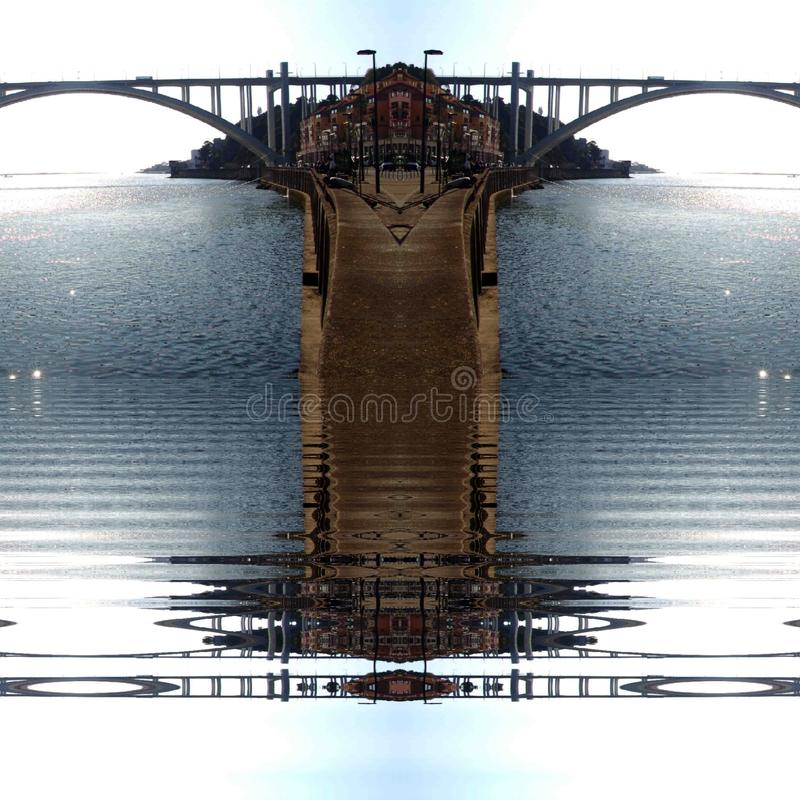 Oporto city ribeira  abstract  digital art. Oporto city  abstract digital art royalty free stock photos
