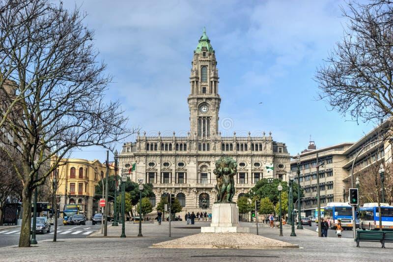 Oporto City Hall royalty free stock photography