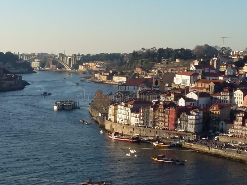 Oporto cityscape, Portugal royaltyfri fotografi