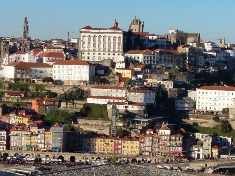 Oporto cityscape, Portugal royaltyfria foton