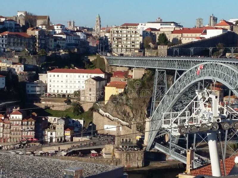 Oporto cityscape, Portugal royaltyfria bilder