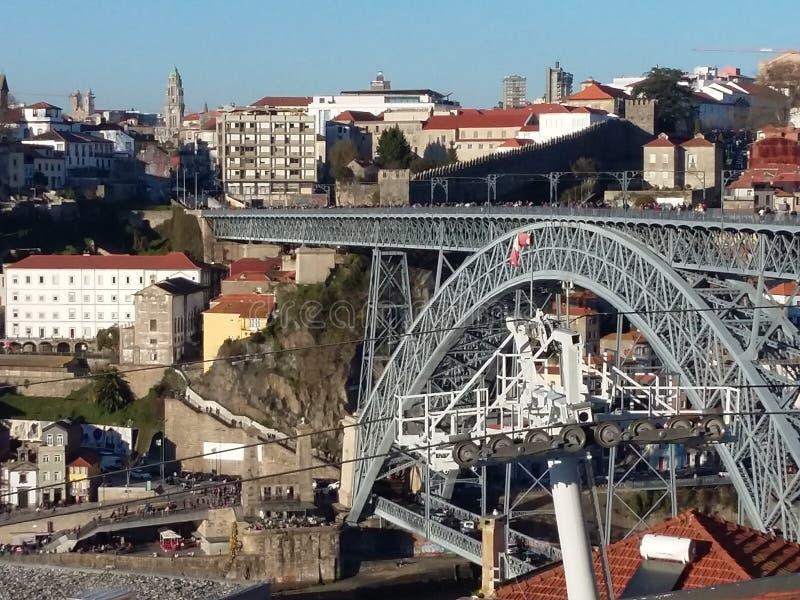 Oporto cityscape, Portugal royaltyfri bild