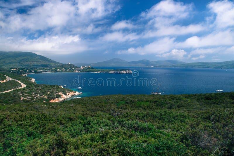 Oporto Conte Regional Natural Park Costa italiana foto de archivo