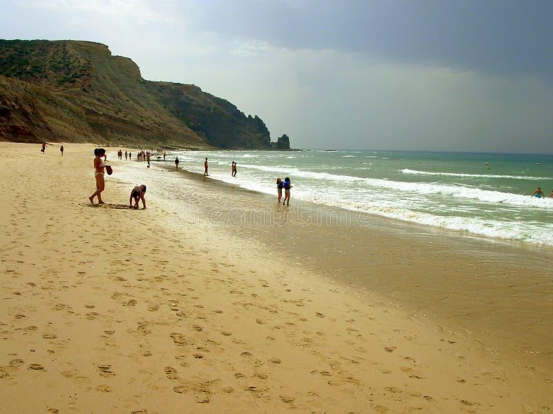 Oporto de Mós Beach fotografia stock libera da diritti