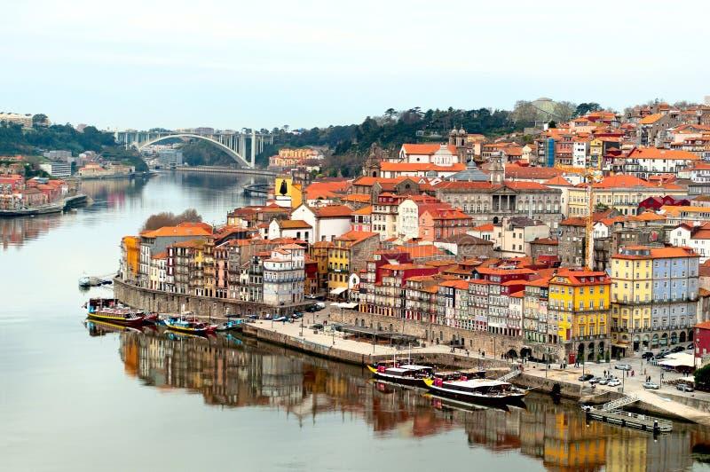 Oporto miasta krajobraz, Portugalia obraz royalty free