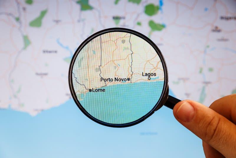 Oporto Novo, Benin correspondencia pol?tica fotografía de archivo