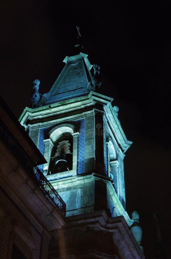 Oporto por noche fotos de archivo