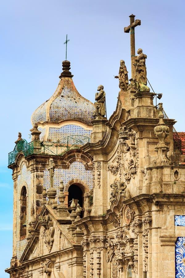 Oporto, Portogallo Igreja fa la chiesa di Carmo fotografia stock libera da diritti