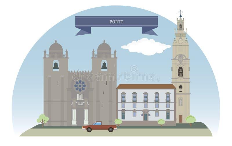 Oporto, Portugal stock de ilustración