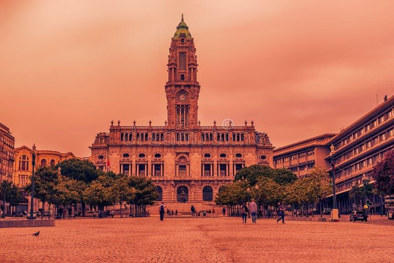 Oporto, Portugal: ayuntamiento imagen de archivo libre de regalías