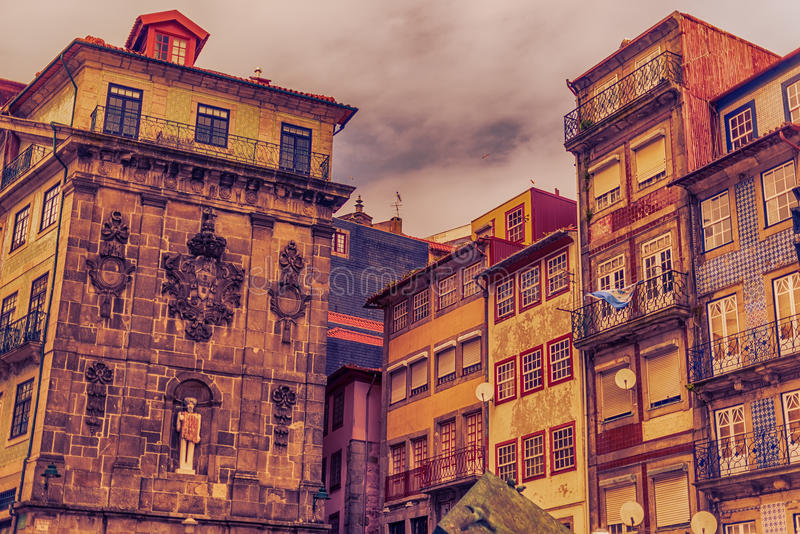 Oporto, Portugal: la ciudad vieja foto de archivo