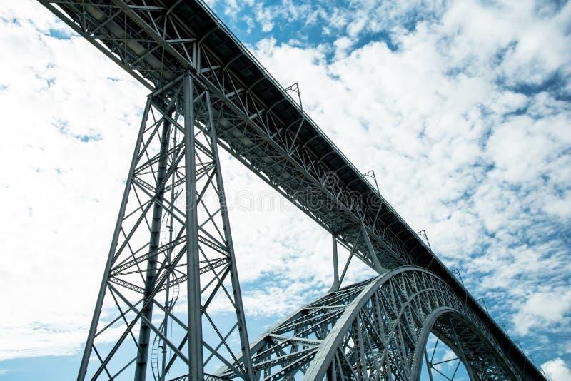 Oporto, Portugal Puente de los Dom Luis imagenes de archivo