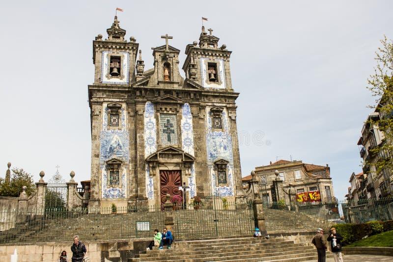 Oporto, Portugalia: Santo Ildefonso kościół od 1739, obrazy royalty free
