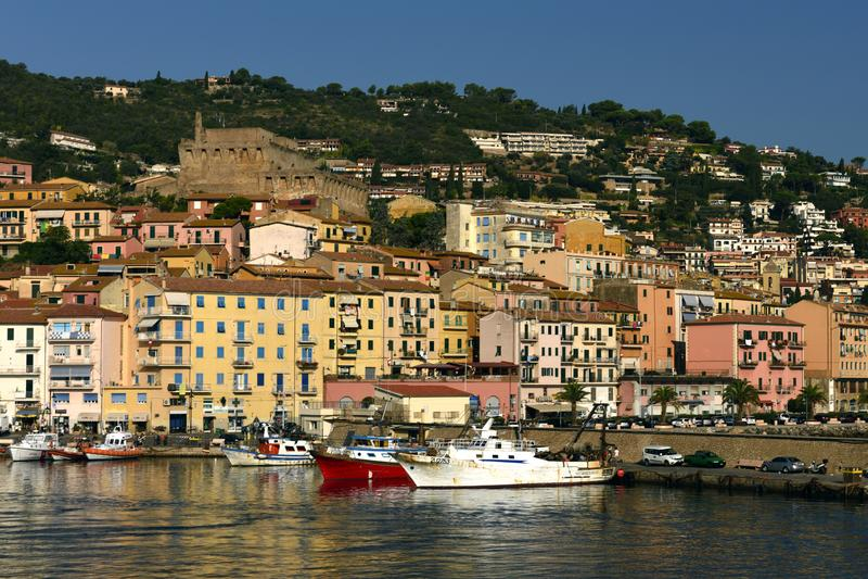Oporto Santo Stefano, Toscana, Italia fotografie stock