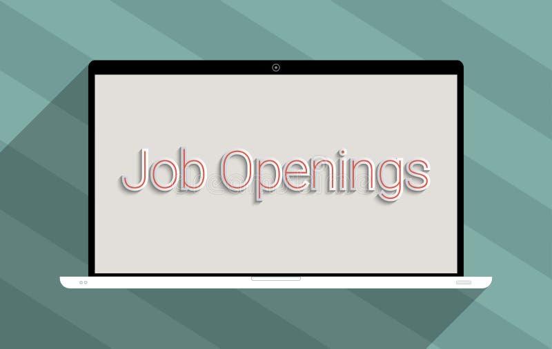 Oportunidades de emprego ilustração royalty free