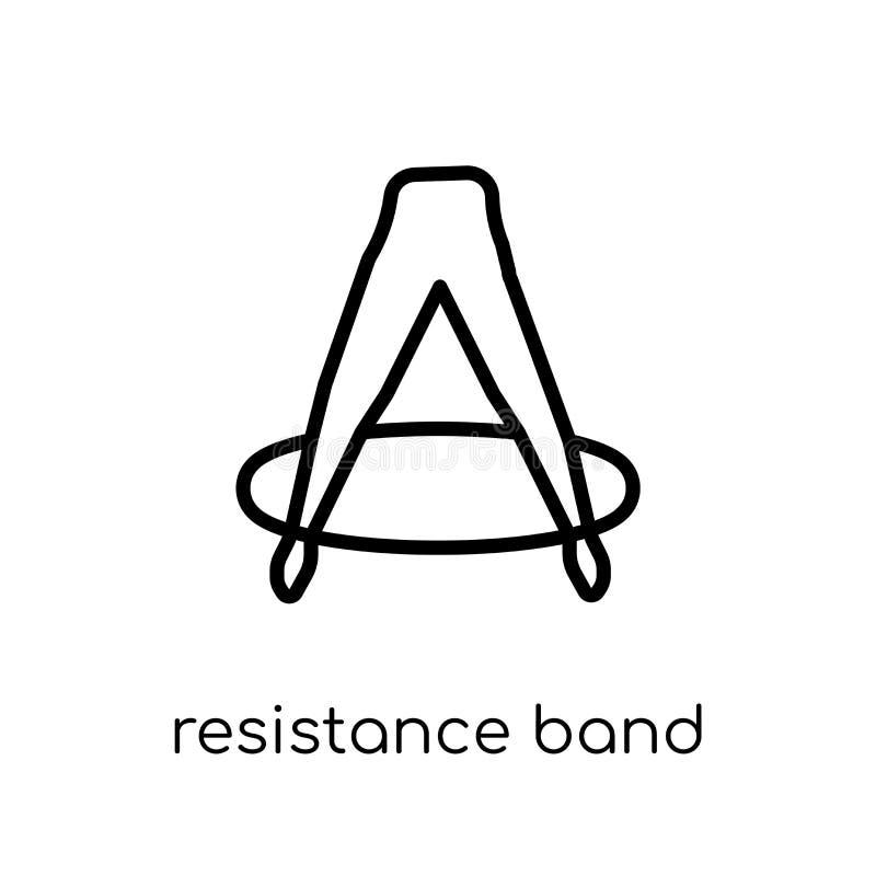 Oporu zespołu ikona Modny nowożytny płaski liniowy wektorowy Resistanc ilustracji