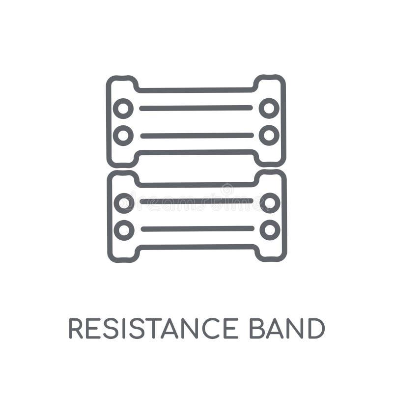 Oporu zespołu liniowa ikona Nowożytny konturu oporu zespołu logo ilustracji
