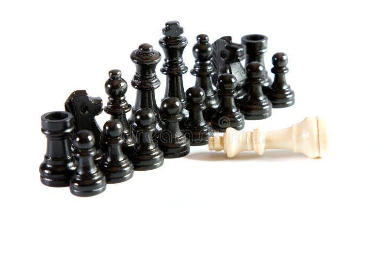 Oposição, jogo de xadrez imagens de stock royalty free