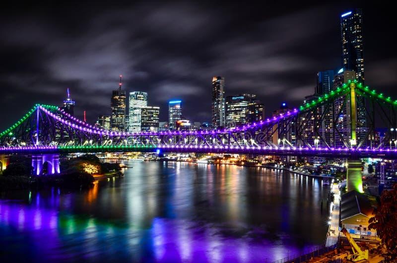 Opowieści bridżowa noc zdjęcie stock