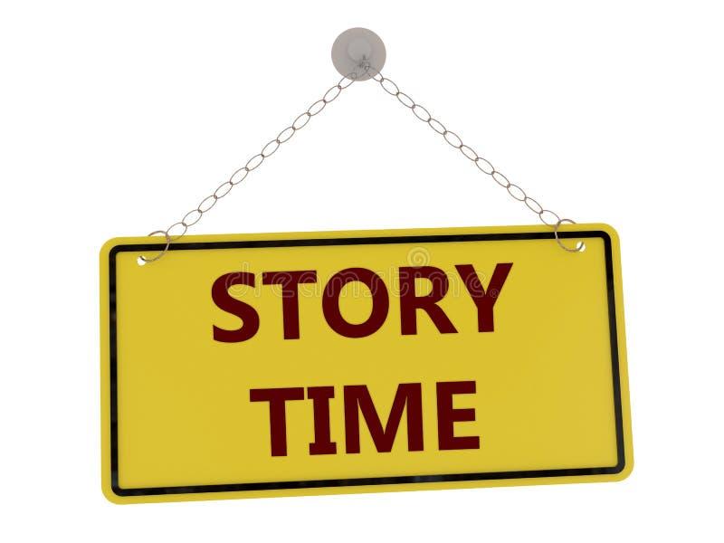Opowieść czasu znak ilustracja wektor