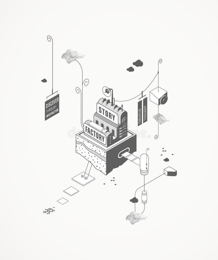 Opowieści fabryka royalty ilustracja