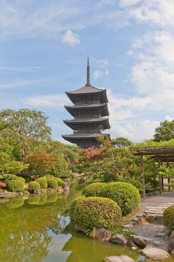 Opowieści pagoda Toji świątynia w Kyoto Unesco miejsce obrazy royalty free