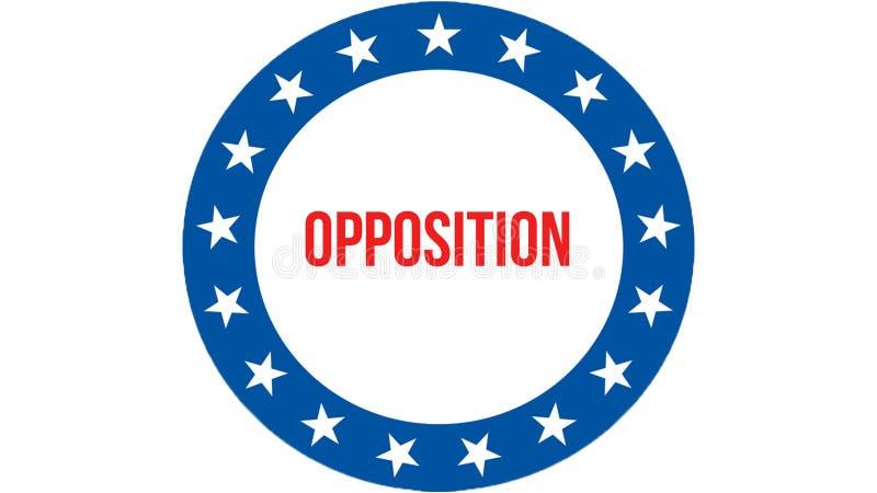 Opozycja wybory na usa tle, 3D rendering Zlani stany Ameryka zaznaczają falowanie w wiatrze Głosujący, wolności demokracja royalty ilustracja