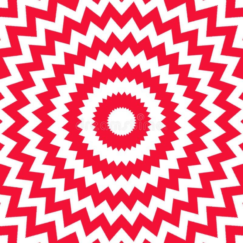Opp blanc rouge illustration stock