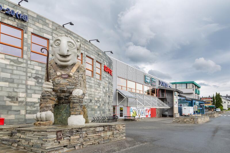 Oppdal troll in Norway royalty free stock image