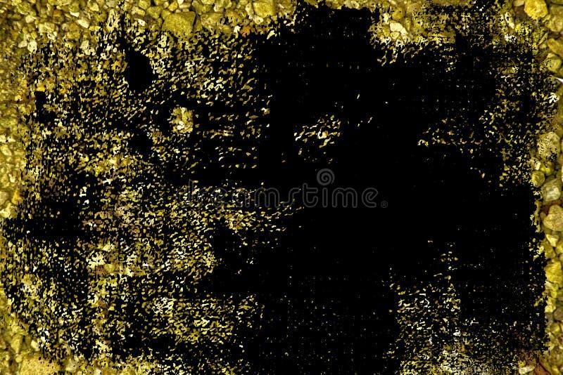 Oppervlakte van de Grunge de ultra gele Kiezelsteen, steentextuur of rotsachtergrond, gemalen achtergrond stock afbeeldingen
