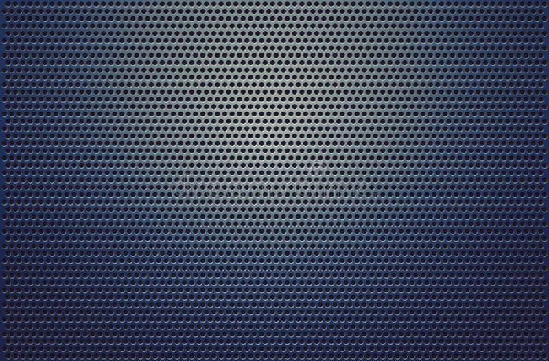 Oppervlakte van de metaal de grill geperforeerde steen voor technologische backgroun vector illustratie