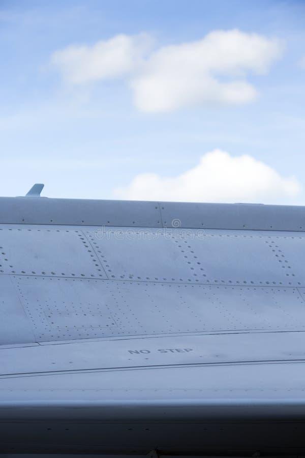 Oppervlakte van de moderne straalvechter stock afbeelding