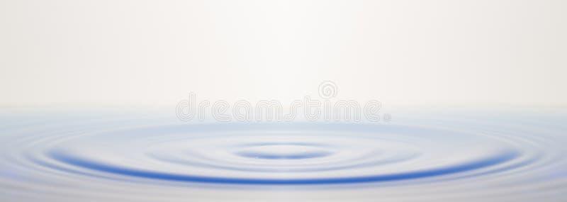 Oppervlakte van de rivier op een winderige dag stock fotografie