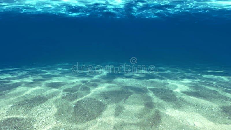 Oppervlakte van het zand onder water stock illustratie