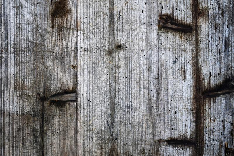 Oppervlakte van oud houten bureau met wormholes royalty-vrije stock foto