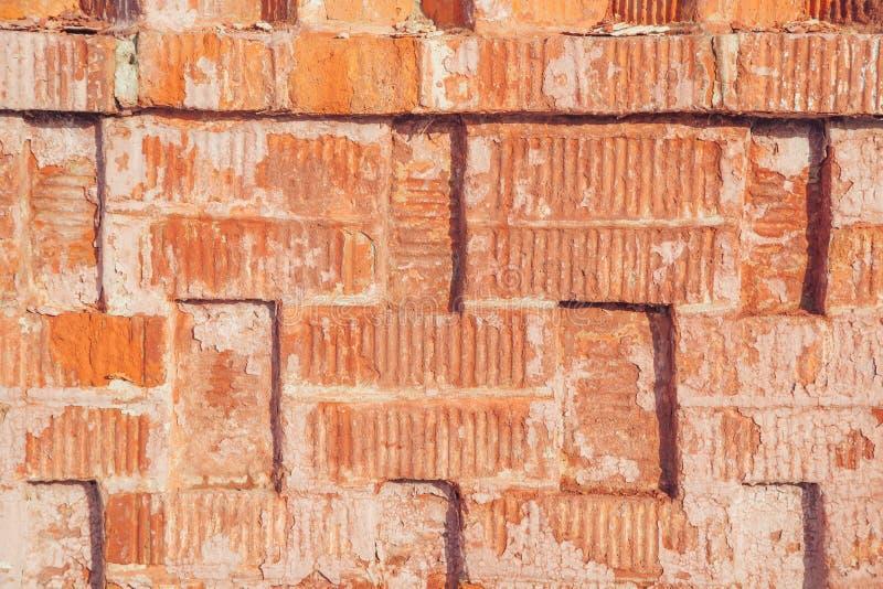 Oppervlakte van rode bakstenen muur royalty-vrije stock foto's