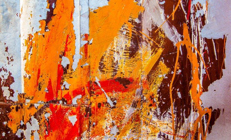 Oppervlakte van roestig ijzer met oude geschilderde textuur royalty-vrije stock foto