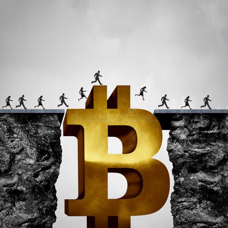Opportunità cripto di valuta di Bitcoin illustrazione vettoriale